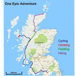 adventure trip, Scotland, hiking, biking, paddling, climate protection, outdoor sports